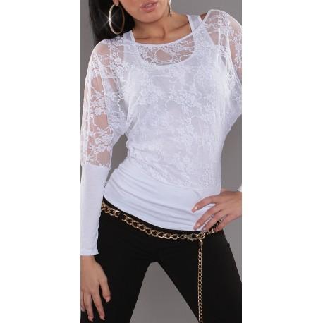 T-shirt voile / Blanc