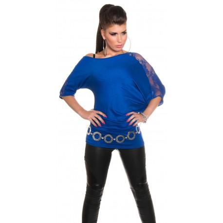 T-shirt ample / Bleu