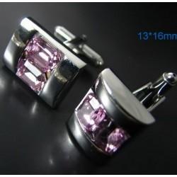 Boutons de manchettes Carré violet