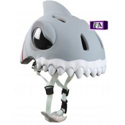 Casque de vélo 3D Requin Gris